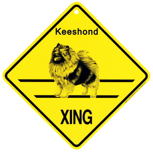 キースホンド 横断注意 英語サインボード アメリカ輸入看板