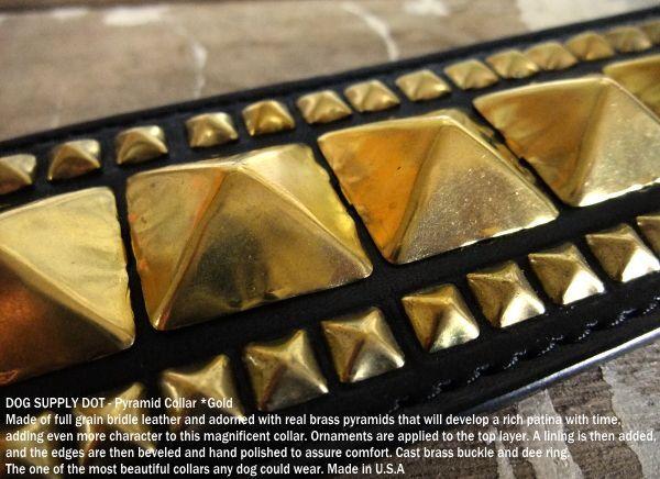 ピラミッド スタッドカラー59mm:ゴールド