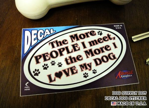 DECALステッカー:The More PEOPLE I meet