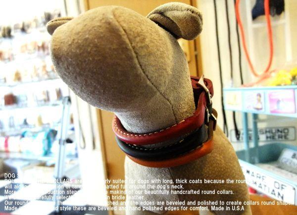 ロールレザーカラー(犬,丸首輪,丸革,本革,レザー)