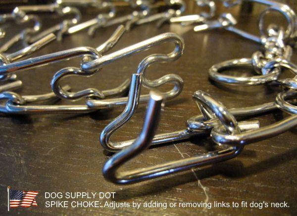 スパイクチョーク(犬の訓練用チョークチェーン首輪)