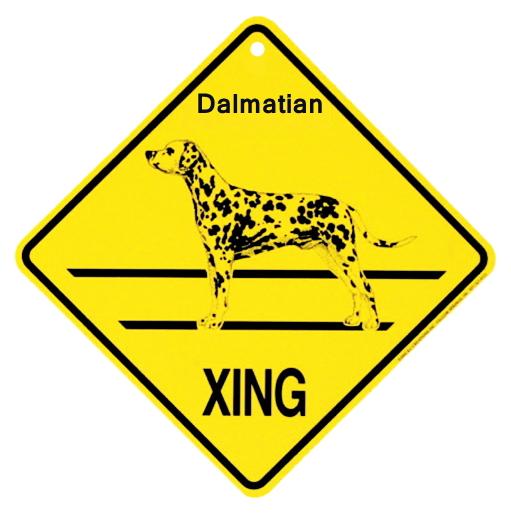 ダルメシアン 横断注意 英語サインボード アメリカ輸入看板